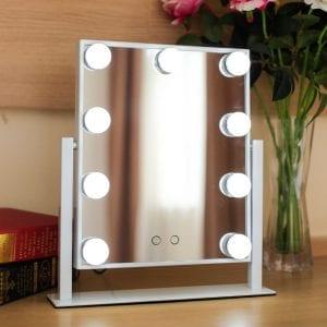 Make up spiegel met verlichting led wit